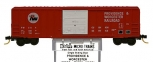 MicroTrains 25030 N Scale Providence & Worcester FMC 50' Ribside Boxcar #384 LN