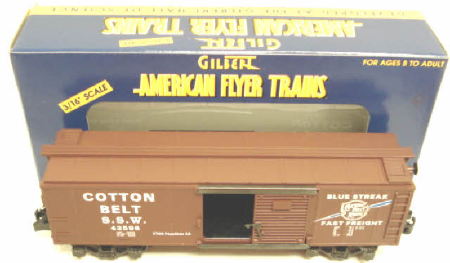 American Flyer 6-48209 S Scale T.T.O.S. 1998 Cotton Belt Boxcar - RARE! NIB 023922482099 American Flyer 6-48209