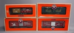 Lionel O Christmas Freight and Operating Cars: 6-26519, 6-36243, 6-36790, 6-2675