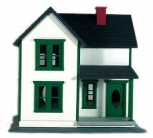Aristo-Craft 7203 G Scale Farm House- White with Green Trim LN/Box