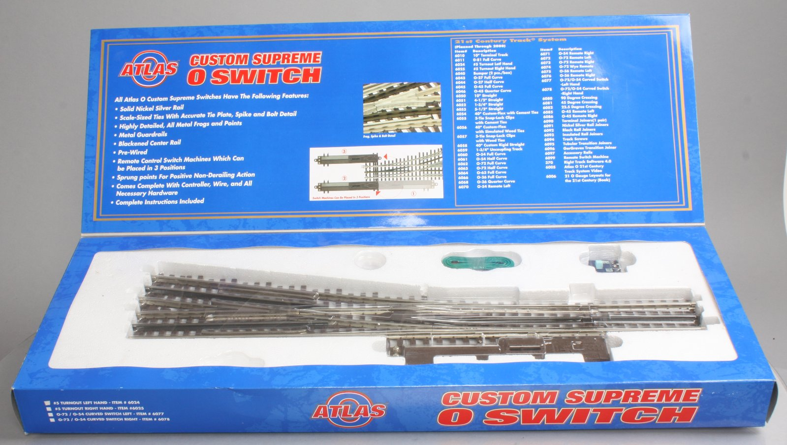 Frog Atlas Switch Wiring Trusted Diagrams Ho Track Buy 6025 O Gauge 3 Rail 5 Right Hand Remote Turnout Ex Control