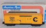 American Flyer 6-48303 S Gauge Chessie System Boxcar C&O MEC S gauge trains