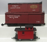 Bachmann & Hartland G Scale Freight Cars; 88097, 93321, 15601 (Plastic & Metal W