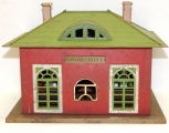 Lionel Prewar metal Lionelville Station #126 Tinplate Crackle Red version 1920s