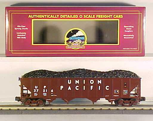 MTH 20-97403 Union Pacific 4 Bay Hopper with Coal Load NEW