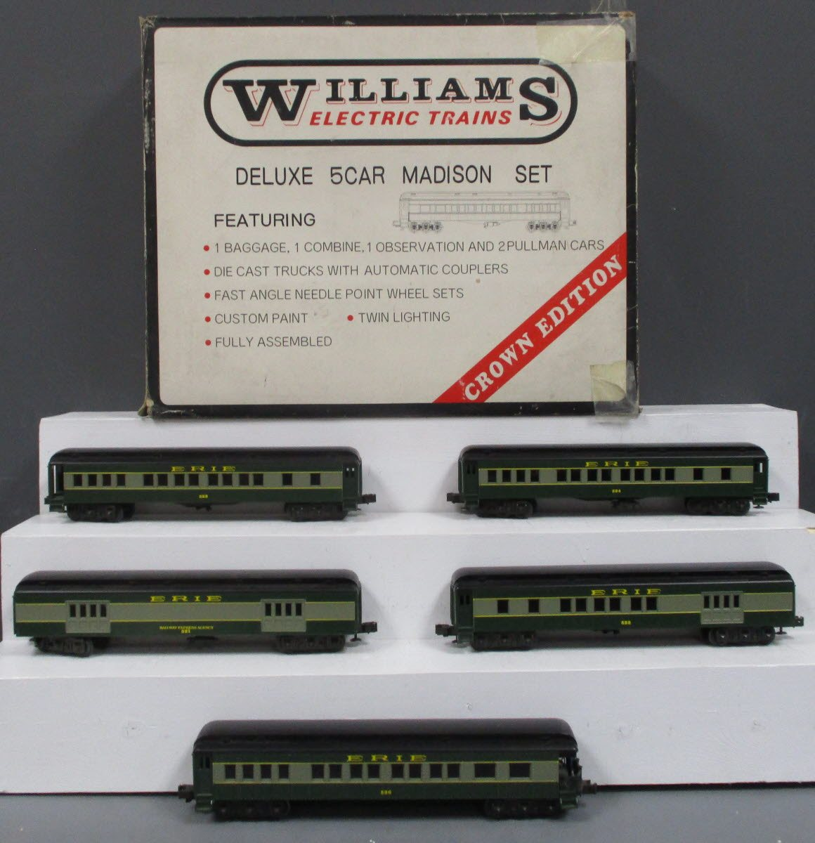 Buy Williams 2522 Erie Madison 5 Car Set LN/Box | Trainz