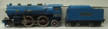 Lionel 390E Two Tone Blue 2-4-2 Steam Locomotive w/ Tender - Repainted