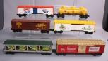 Lionel O Gauge Freight Cars: 6-16123, 6-9817, 6-16239, 6-9833, 6-9132, 6-7708 [6