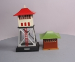 Lionel O Prewar 438 Tinplate Signal Tower and 092 Tinplate Signal Tower [2]