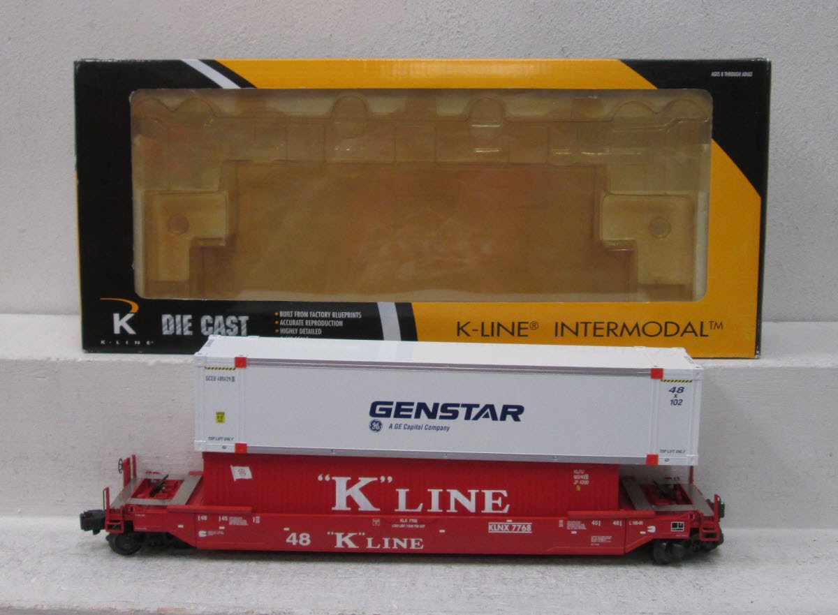 Buy K-Line K-7768 Gunderson Deep Well Car NIB | Trainz Auctions