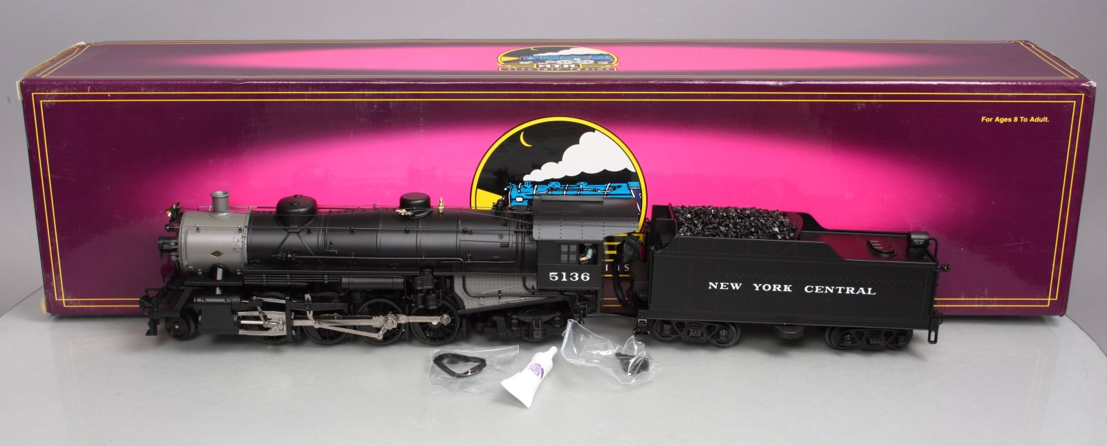 MTH 20-3051-1 NYC Mikado Steam Engine & Tender w/PS2 LN/Box 658081028330 MTH 20-3051-1