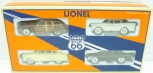 Lionel 6-22990 Route 66 Automobiles (Pack of 4) NIB