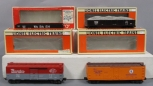 Lionel O Gauge Freight Cars: 6-6209, 6-9469, 6-9815, 6-9820 [4]/Box