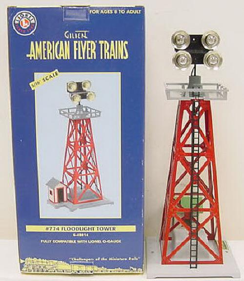 American Flyer 6-49814 S Scale 4-Light Floodlight Tower #774