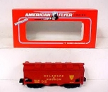 American Flyer 6-48609 S Scale Delaware & Hudson  Covered Hopper NIB