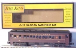 MTH 30-6201 O-27 Pennsylvania Madison Coach Car #3466 LN/Box
