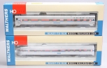 Walthers HO Scale Amtrak Passenger Coaches: 932-6724, 932-6501 [2] LN/Box