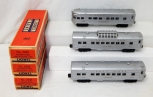 BOXED CLEAN 1957 Lionel Passenger Set 2432 2434 2436 Silver red print streamline