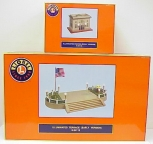 Lionel 6-34117 Standard Gauge Illuminated Station and Terrace #128 EX/Box