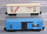 American Flyer 24056 Boston & Maine Boxcar & 24057 Mounds Boxcar