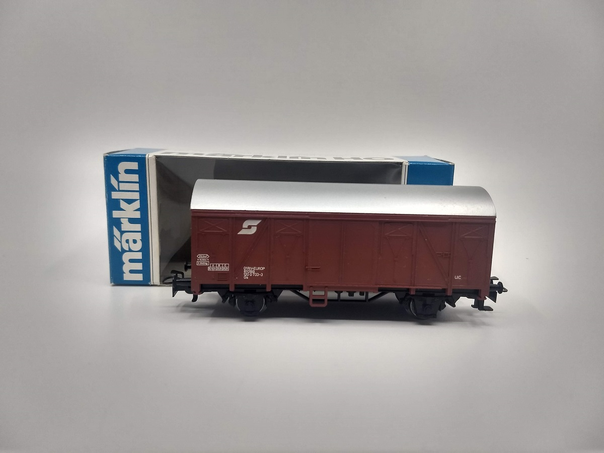 Marklin 4407 HO Austrian Covered Wagon Boxcar EX/Box  Marklin 4407