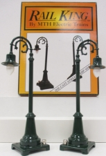 MTH 30-1031 #59 Green Street Lamp Set LN/Box