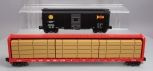 MTH O Freight Cars: Southern Pacific AAR Boxcar & CP Rail Flatcar w/ Lumber LN