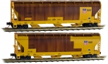 MicroTrains 09444410 N Scale Weathered C&NW/Union Pacific 3-Bay Covered Hopper (