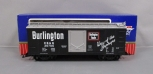 USA Trains R19043A G Scale Burlington Steel Box Car - Plastic Wheels EX/Box