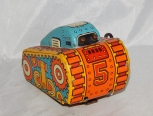 Vintage Marx #5 RolloverTurnOver Tank Wind Up toy Works great Army tin litho