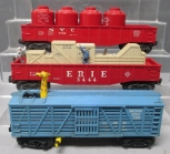 Lionel O Postwar Freight Cars: 3444 Cop & Hobo Car, 3386 Bronx Zoo, 6562 NYC Gon