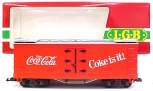 LGB 4072 Coca-Cola Coke is It! Reefer Car w/Plastic Wheels EX/Box