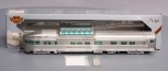 Broadway Limited 534 HO Scale Paragon Series WP Silver Crescent Lounge/Obs #88