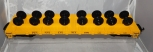 USA Trains R1891 PENNSYLVANIA Wheel Car Flat G scale PRR Yellow MOW HTF Long OOP