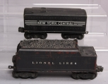 Lionel 221W New York Central Tender & 6466W Lionel Lines Operating Whistle Tende