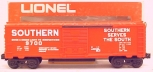 Lionel 6-9700 Southern Red Boxcar LN/Box