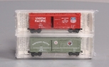 MicroTrains N Scale Special Run Northern Pacific / Union Pacific Boxcar Set LN