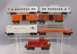Lionel O Postwar Passenger and Freight Cars: 2432, 6519, 3665, 3464, 6357 [7]