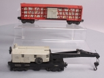 Lionel 6434 Non-Operating Poultry Dispatch Car & 6560 LL Bucyrus Erie Crane Car