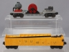 Lionel 3650 Operating Extension Searchlight Car & 3562-50 Yellow AT&SF Operating  Lionel