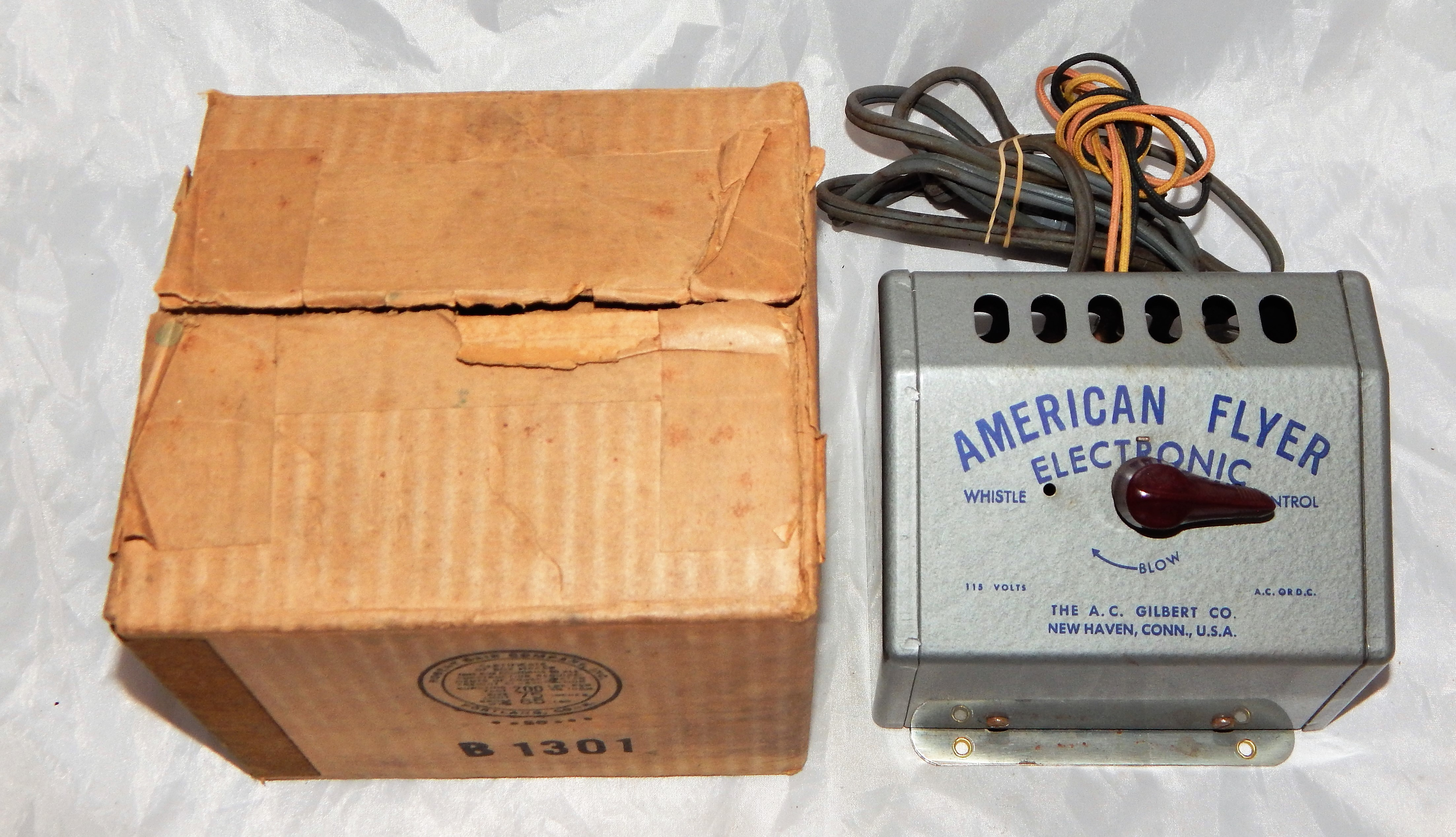 Clean American Flyer Electronic Whistle Control S gauge 1950 for 324ac 334dc S