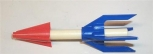 American Flyer Rocket red white & blue for S / HO launcher / transport Repro