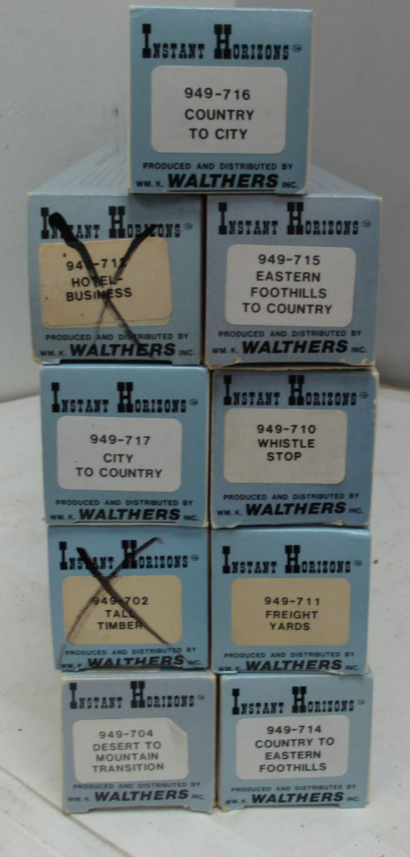 Buy Walthers Instant Horizons Assorted Dioramas (9)/Box