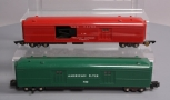 American Flyer 718 New Haven Mail Pick Up Car & 732 Operating Baggage Car