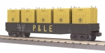 MTH 30-7287 Pittsburgh & Lake Erie Gondola Car with LCL Containers LN/Box