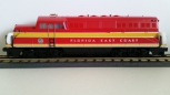 MTH 20-2130-1 Florida East Coast BL-2 Diesel Locomotive CAb#601