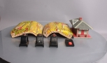 Lionel & Marx O Gauge PW Accessories: Bumpers, Lithographed Tunnel, Girard Stati