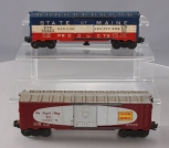 Lionel 6464-375 Central of Georgia Boxcar - Type IIB & 3494-275 State of Maine O
