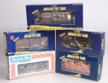 American Flyser S Scale Assorted Freight Cars; 6-48725, 6-48220, 6-48715, 6-4335