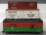 Custom Built G Scale Box and Reefer Cars [3]